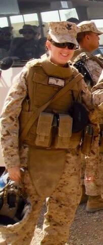 Amanda while deployed in Afghanistan in 2010.