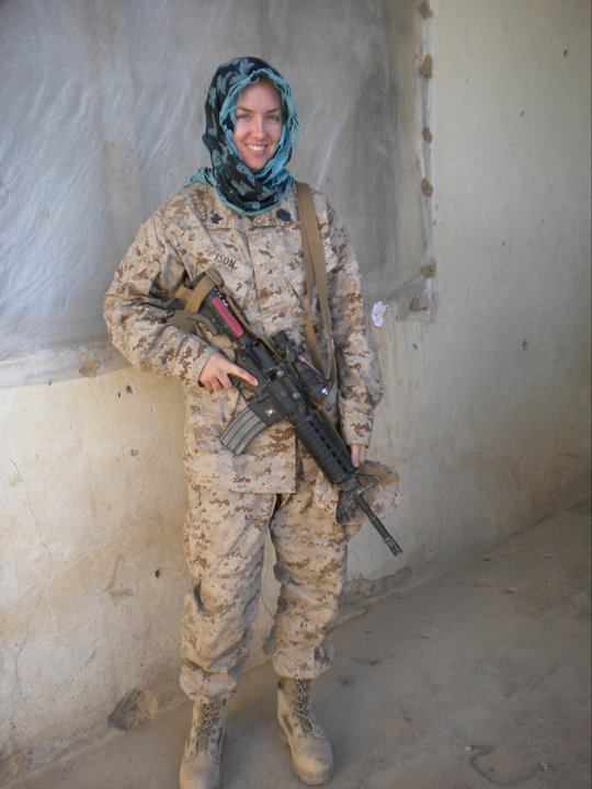 Amanda while on a mission in Afghanistan in 2011.