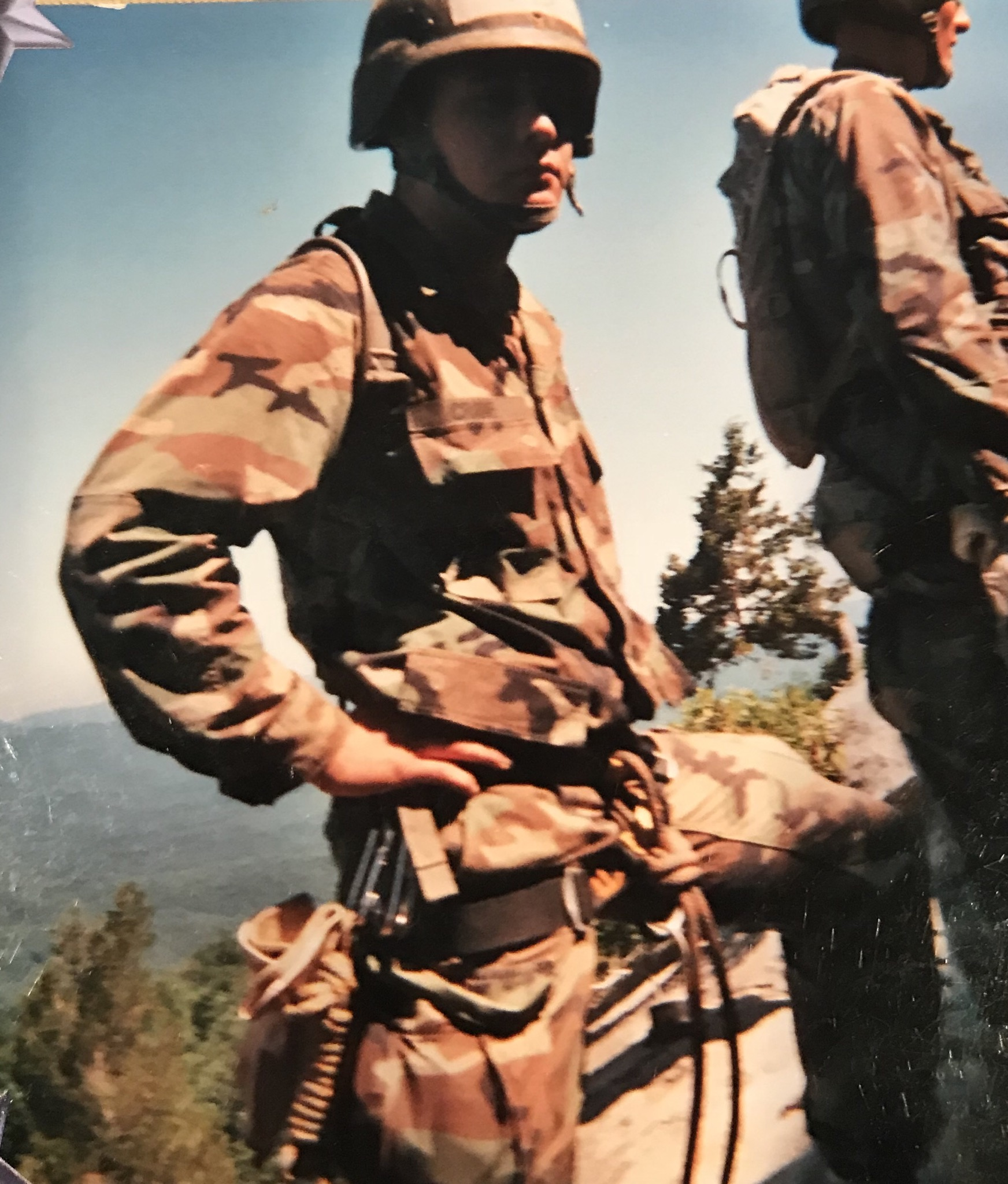 Tyler on top of Mt. Yonah in mountain phase of Ranger School in 2007.