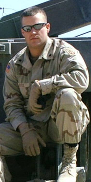Chris while serving in Iraq