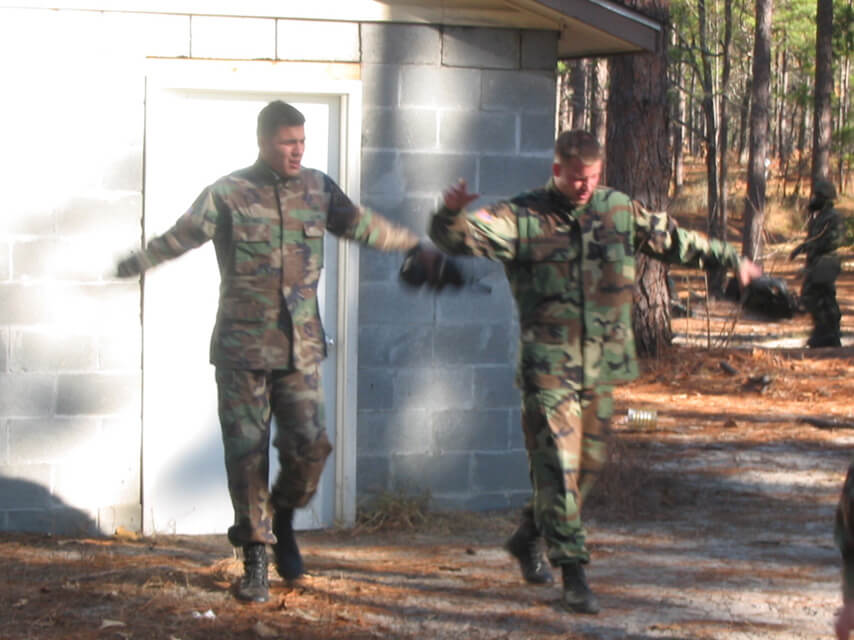 Chris exiting the gas chamber