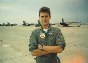 Captain Mike Waggett as an F-111 Instructor Pilot at Cannon Air Force Base, Clovis, NM