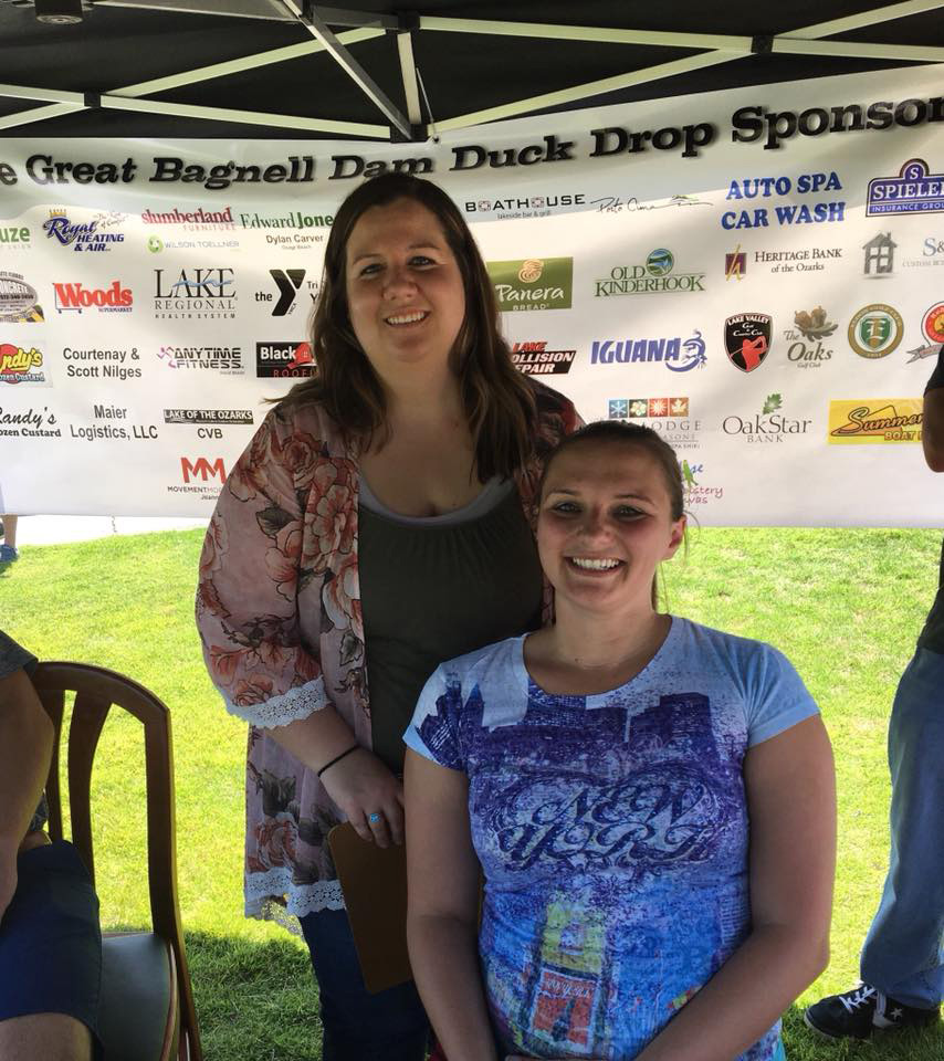 MSW team members Karen Horsman and Krysti Rice volunteering at a Kiwanis Fundraiser.