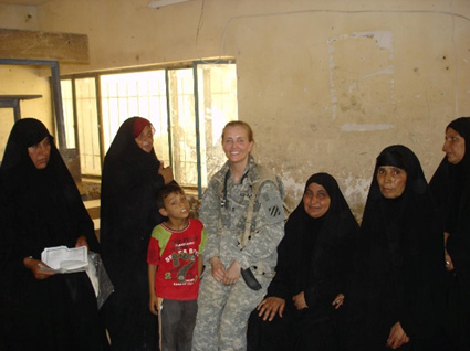 Seeing women and children during a MEDOP (medical operation) in Iraq.