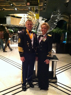 Terri shown with her husband CSM William Jordan