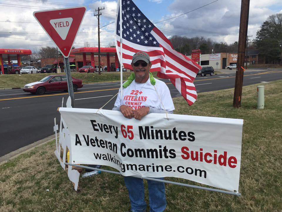 Terry doing his part to raise awareness of veteran suicide