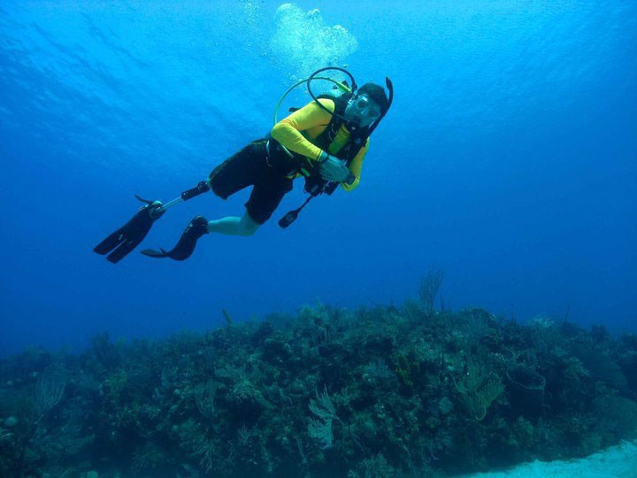 Adam SCUBA diving off the coast of Florida.