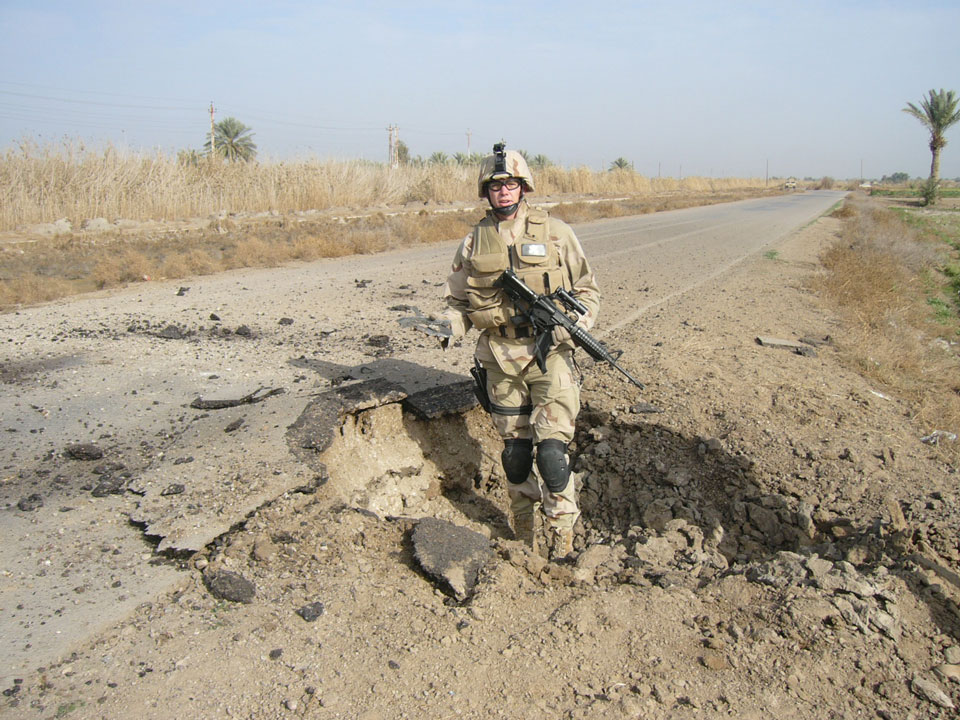 Baghdad 2005 after disposing of an IED Adam's team found.