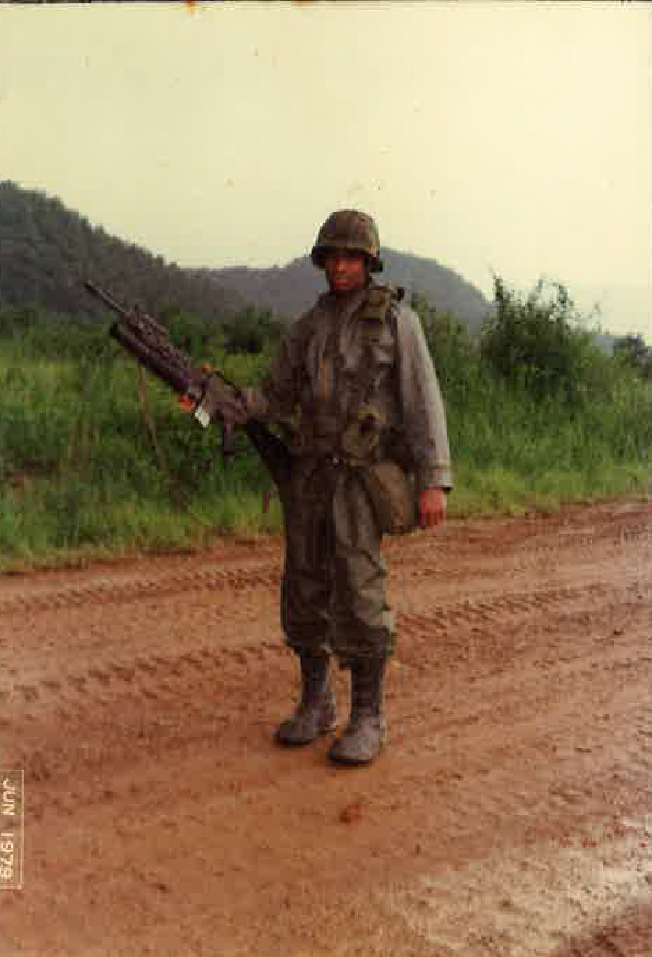 SPC. Anthony Crawley, a soldier, a leader, a vision of being part of a world-class team. U.S. ARMY  CP. Casey, Korea, 1978
