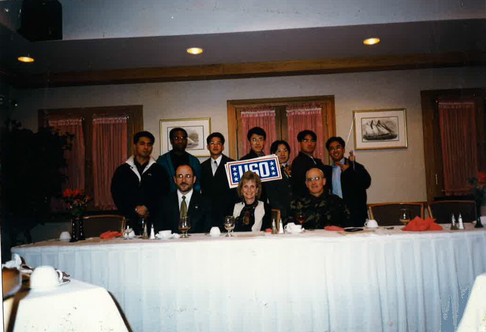 Korea USO Board members with Busan Community Commander, USO Director from Washington, DC, 1997