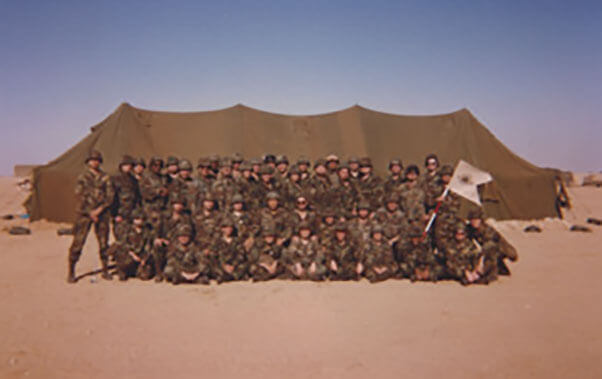 Unit photo of 209th Med in Saudi Arabia, 1991
