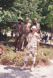 Desert Storm Victory Celebration – Washington, D.C.  Summer of 191. VN Vet Memorial Statue