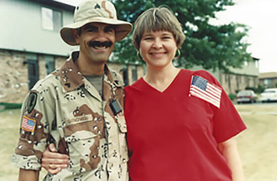 Iowa City, IA. July 4th, 1991 with Desert Storm pen pal and wife of 24 years Nancy Rowe