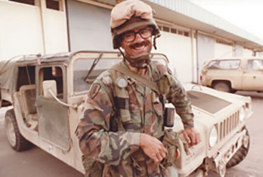 Des Moines Register photographer Capps took this photo at the Camp Freedom Compound in Kuwait City, shortly after the liberation of Kuwait, 1991