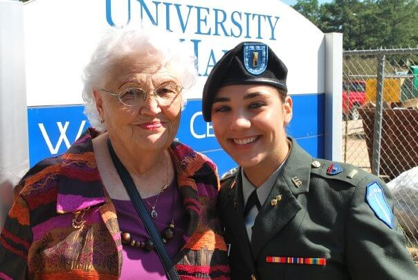 Ruby with her grandmother during OCS graduation